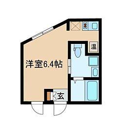 都営大江戸線 西新宿五丁目駅 徒歩11分の賃貸マンション 3階ワンルームの間取り