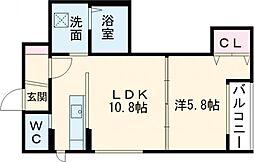 デイトナ 5階1LDKの間取り