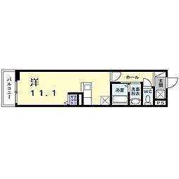 南海高野線 堺東駅 徒歩9分の賃貸アパート 2階ワンルームの間取り