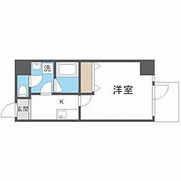 TOYOTOMi STAY Premium梅田西II 7階1Kの間取り