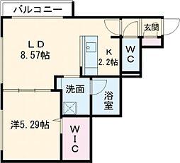 仮称)千歳清水町5丁目マンション 3階1LDKの間取り