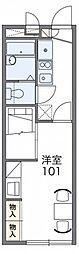 レオパレスSUMIYOSHI 1階1Kの間取り