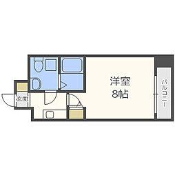 Osaka Metro堺筋線 北浜駅 徒歩8分の賃貸マンション 12階1Kの間取り
