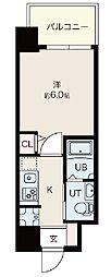 Osaka Metro御堂筋線 昭和町駅 徒歩12分の賃貸マンション 6階1Kの間取り