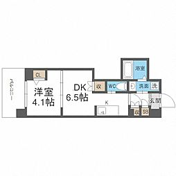 JR阪和線 我孫子町駅 徒歩6分の賃貸マンション 12階1DKの間取り