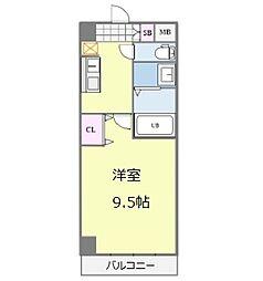 セブンレジデンス日本橋 3階1Kの間取り