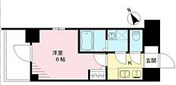 エスリード神戸ハーバークロス 11階1Kの間取り