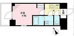 エスリード神戸ハーバークロス 12階1Kの間取り