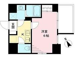 エスリード神戸ハーバークロス 10階1Kの間取り