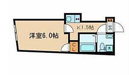 JR総武線 東中野駅 徒歩10分の賃貸マンション 3階1Kの間取り