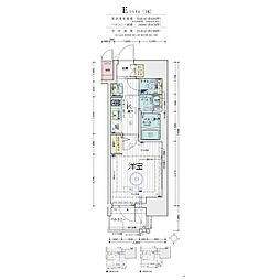 Osaka Metro堺筋線 天神橋筋六丁目駅 徒歩5分の賃貸マンション 2階1Kの間取り
