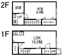 FT−III 1階1LDKの間取り