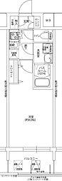 阪神本線 野田駅 徒歩4分の賃貸マンション 10階1Kの間取り