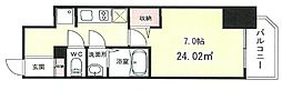 JR東海道・山陽本線 元町駅 徒歩8分の賃貸マンション 12階1Kの間取り
