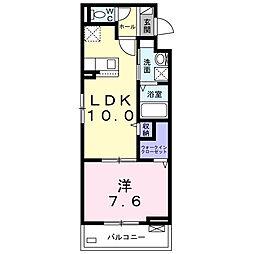 ベル・エトワール 3階1LDKの間取り