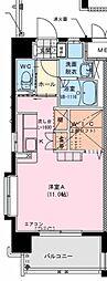 MS 1 3階ワンルームの間取り