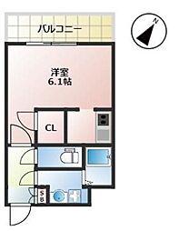 福岡市地下鉄箱崎線 千代県庁口駅 徒歩2分の賃貸マンション 11階1Kの間取り