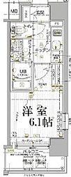 JR山陽本線 兵庫駅 徒歩5分の賃貸マンション 9階1Kの間取り