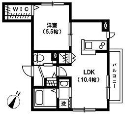 京王井の頭線 井の頭公園駅 徒歩19分の賃貸マンション 1階1LDKの間取り