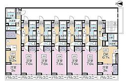 JR京浜東北・根岸線 さいたま新都心駅 徒歩10分の賃貸アパート 2階1Kの間取り