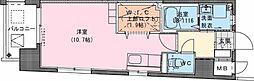 Riviere Champ 宮田町 4階ワンルームの間取り