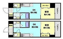 JR日豊本線 別府大学駅 徒歩26分の賃貸マンション 6階1DKの間取り