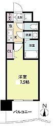 セレニテ日本橋プリエ 5階1Kの間取り