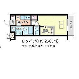 The Well Mejiro(ザ ウエル メジロ) 1階1Kの間取り