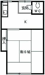 六番町駅 2.5万円