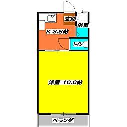 JR東海道本線 浜松駅 バス45分 都田サッカー場下車 徒歩2分の賃貸アパート 2階1Kの間取り