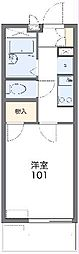 遠州鉄道 新浜松駅 徒歩15分の賃貸マンション 4階1Kの間取り