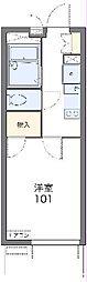 JR東海道本線 浜松駅 徒歩18分の賃貸マンション 4階1Kの間取り