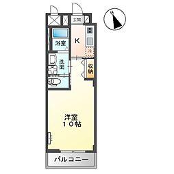 JR内房線 五井駅 バス6分 飛天坂下車 徒歩4分の賃貸マンション 1階1Kの間取り