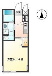 JR東海道本線 新所原駅 徒歩15分の賃貸アパート 1階1Kの間取り