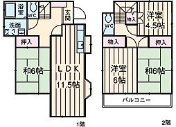 JR高崎線 北本駅 4.4kmの賃貸一戸建て 1階4LDKの間取り
