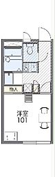 東武伊勢崎線 羽生駅 徒歩14分の賃貸アパート 2階1Kの間取り