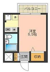 TSビル 2階1Kの間取り