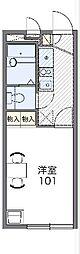 京王線 多磨霊園駅 徒歩10分の賃貸アパート 1階1Kの間取り
