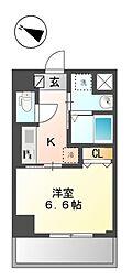 東京メトロ有楽町線 江戸川橋駅 徒歩5分の賃貸マンション 4階1Kの間取り