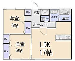 A-LIFE 3階2LDKの間取り