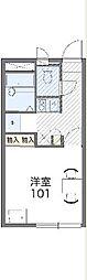 JR川越線 笠幡駅 徒歩15分の賃貸アパート 2階1Kの間取り