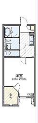 西武秩父線 東飯能駅 徒歩10分の賃貸アパート 1階1Kの間取り