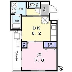 西武新宿線 田無駅 徒歩11分の賃貸マンション 1階1DKの間取り