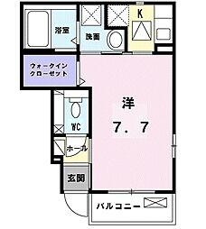 京王線 飛田給駅 徒歩9分の賃貸アパート 1階1Kの間取り