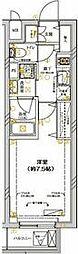 JR南武線 武蔵新城駅 徒歩5分の賃貸マンション 2階1Kの間取り