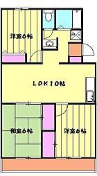 ソシアアマヌマ 4階3LDKの間取り