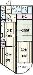 JR京浜東北・根岸線 大宮駅 徒歩18分の賃貸マンション 4階3DKの間取り