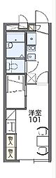 JR常磐線 我孫子駅 徒歩8分の賃貸アパート 1階1Kの間取り