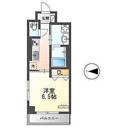 都営大江戸線 蔵前駅 徒歩9分の賃貸マンション 7階1Kの間取り