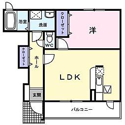京急本線 横須賀中央駅 バス21分 林四ツ角下車 徒歩5分の賃貸アパート 1階1LDKの間取り